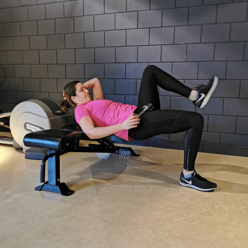 1-leg hip thrust
