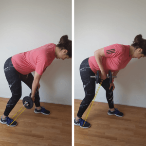 Banded dumbell row